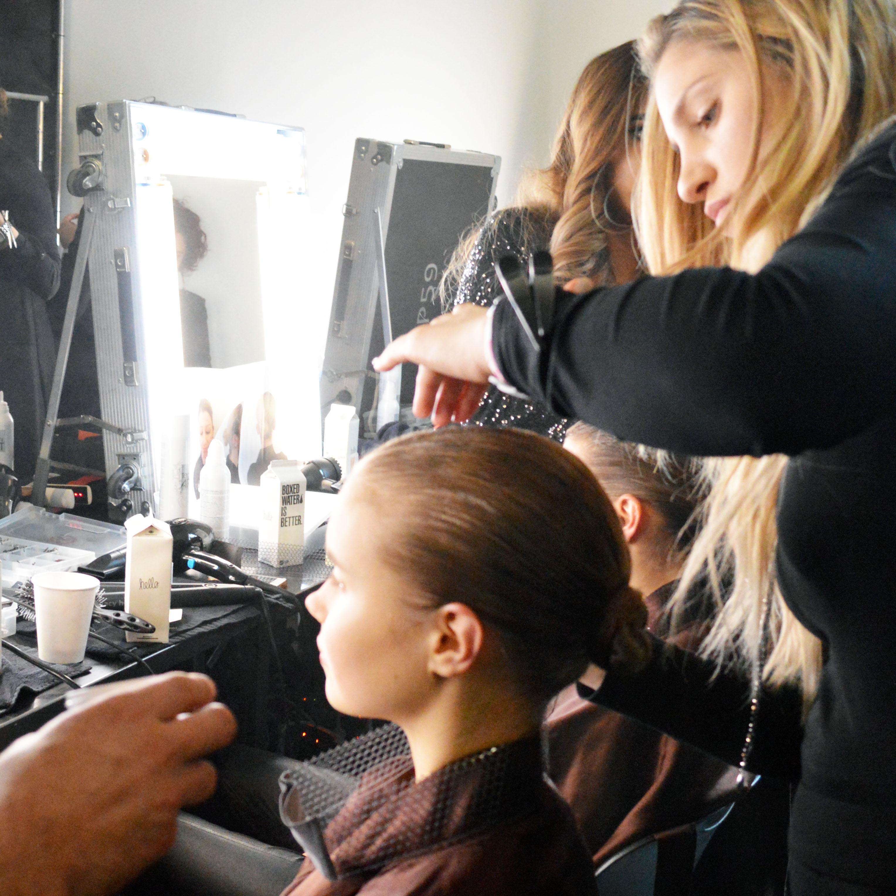 hair backstage at pamella roland new york fashion week – Bay