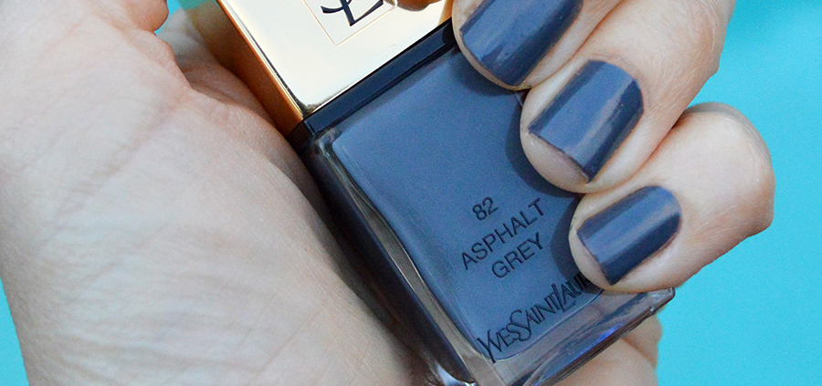 Spring 2017 fashion colors - Ysl Asphalt Grey Nail Polish Spring 2017 Review Bay Area