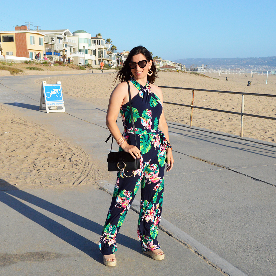 summer floral jumpsuit