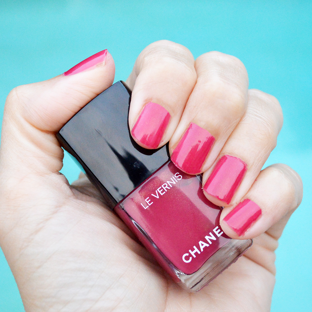 Chanel Rose Prodigious nail polish review fall