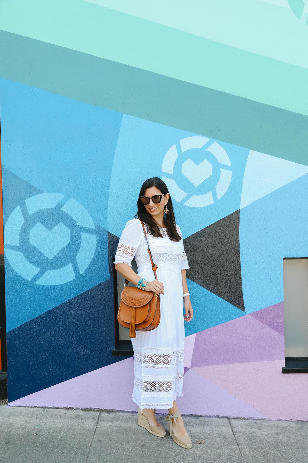 affordable white dress san francisco blogger
