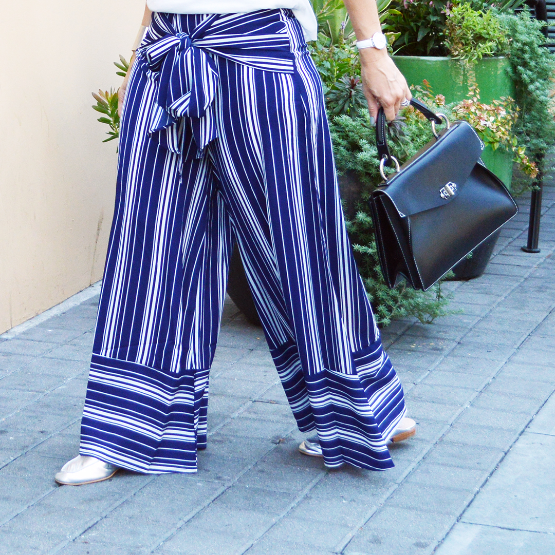 affordable fall wide leg pants striped