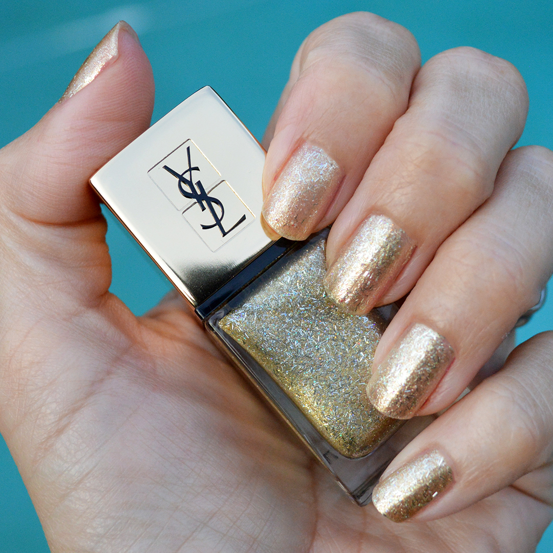 YSL gold fire nail polish holidays 2017