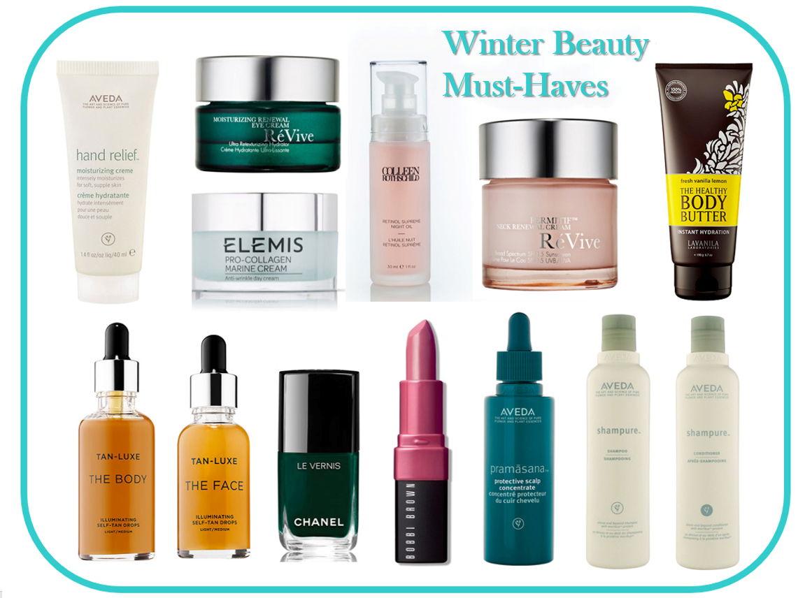 winter beauty skin care hair must haves