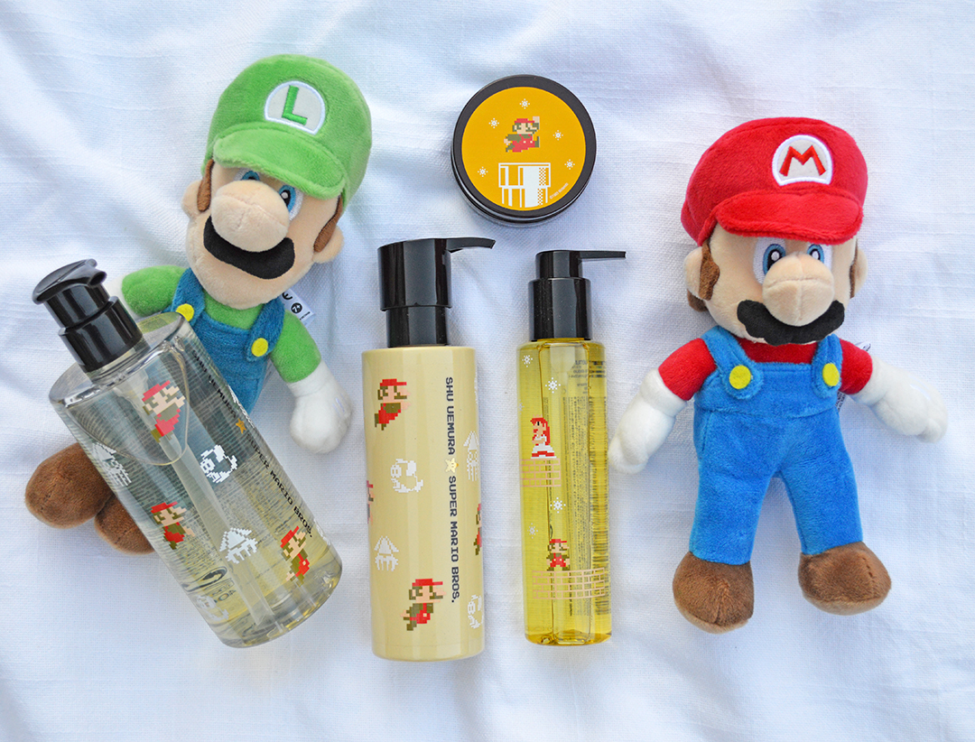 mario bros shu uemura hair care collection