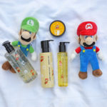 Super Mario Bros X Shu Uemura hair care collection