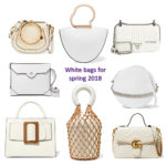Spring 2018 handbag trends: white handbags
