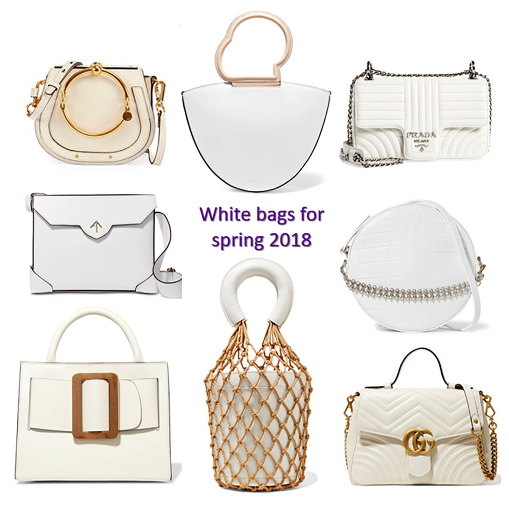 a10a5d6873a2 Spring 2018 handbag trends: white handbags – Bay Area Fashionista