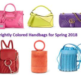 spring 2018 handbag trends bright color handbags
