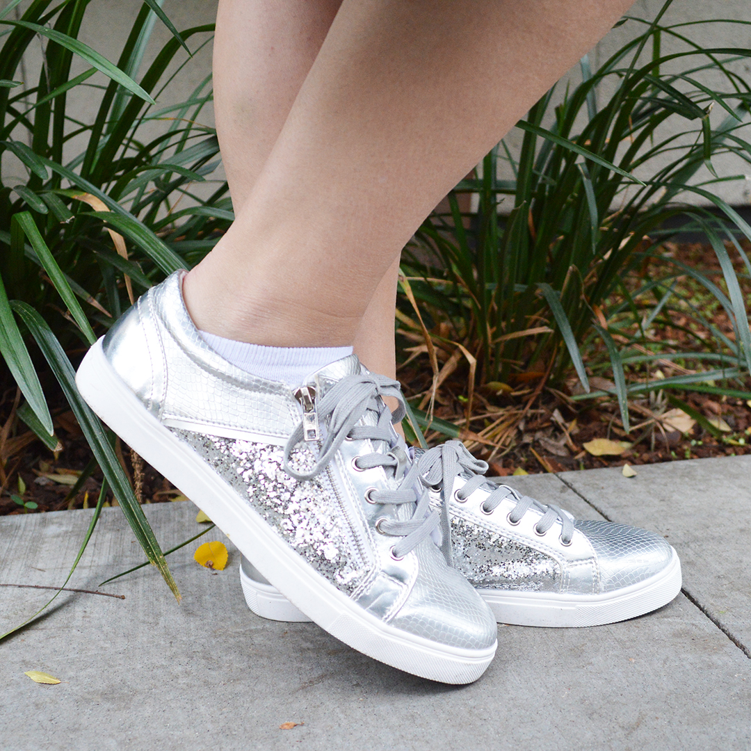 jd williams silver sneakers