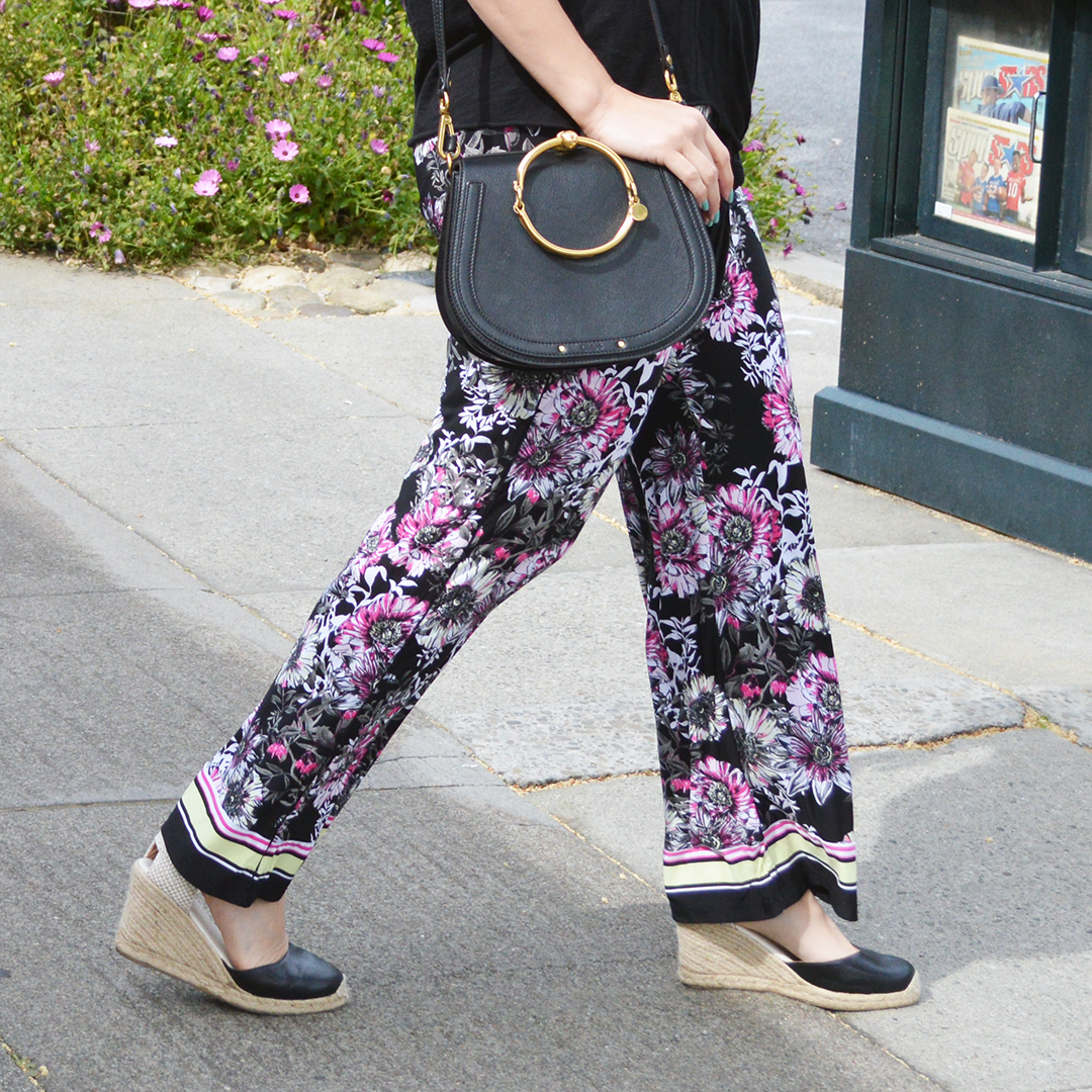 affordable floral pants