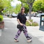 Wide leg floral pants for summer