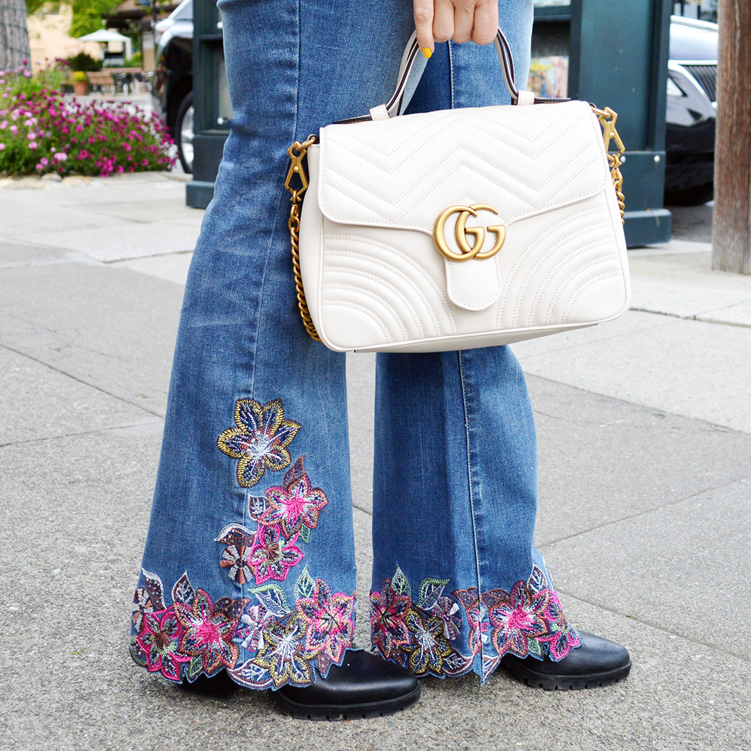 spring embellished denim trend