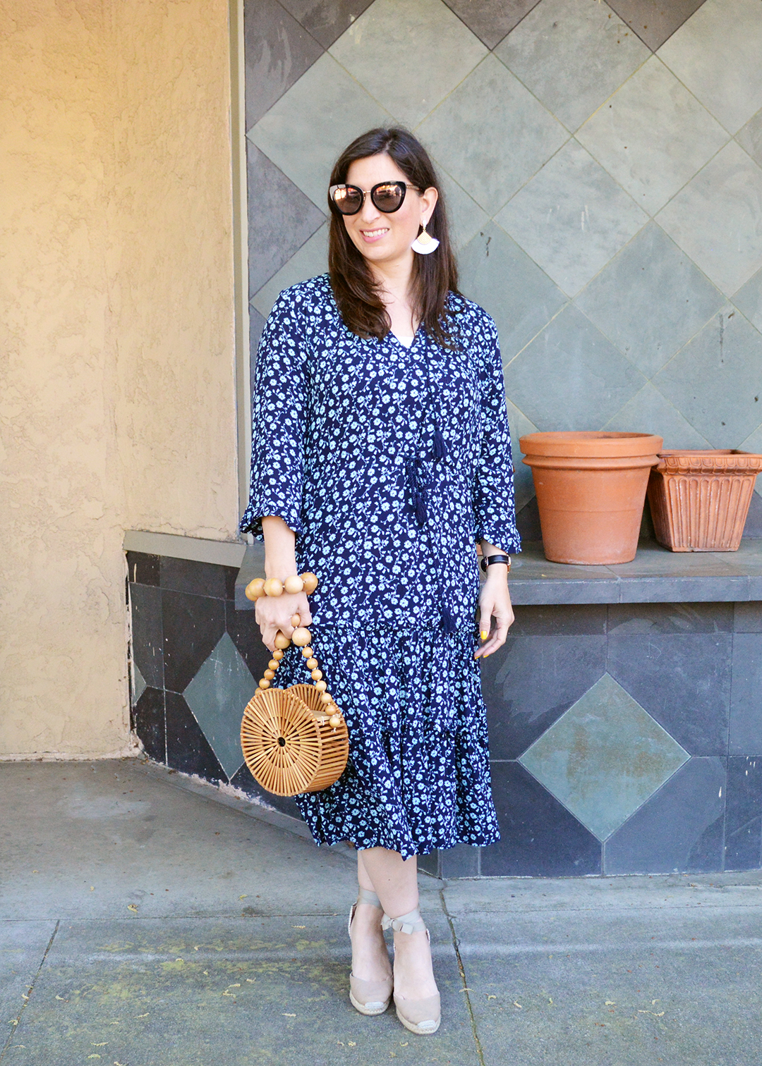 blue floral dress for spring