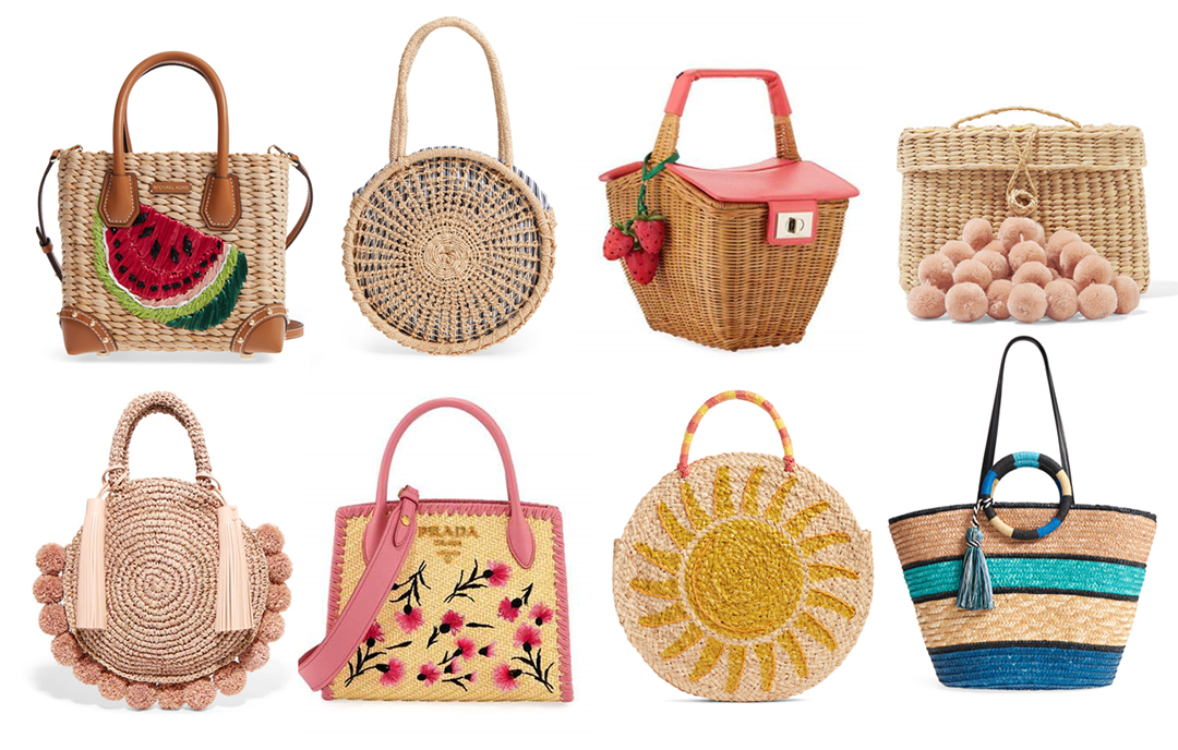 summer 2018 handbag trends straw bags