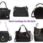 Fall 2018 handbag trends: black handbags
