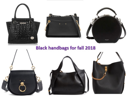 Fall 2018 handbag trends: black handbags