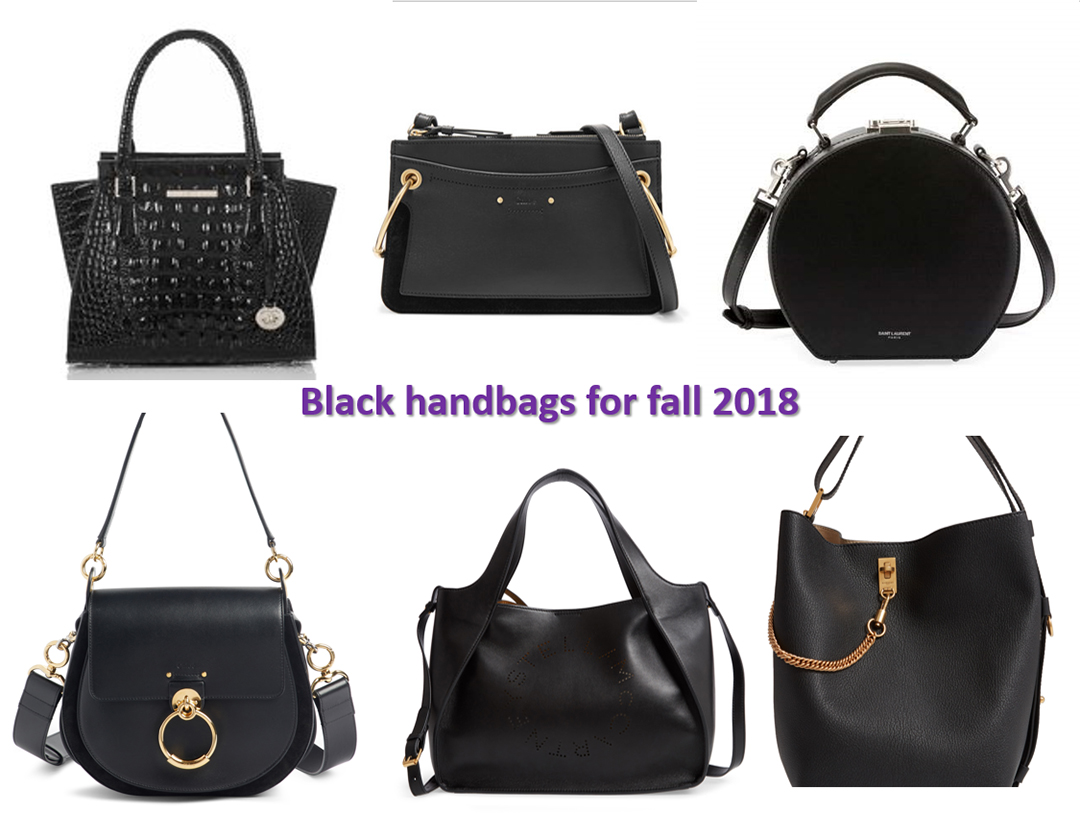 fall 2018 handbag trends black hanbdags