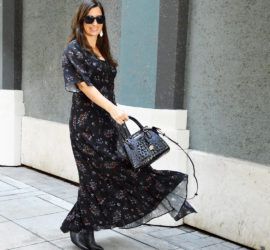 affordable fall floral dress