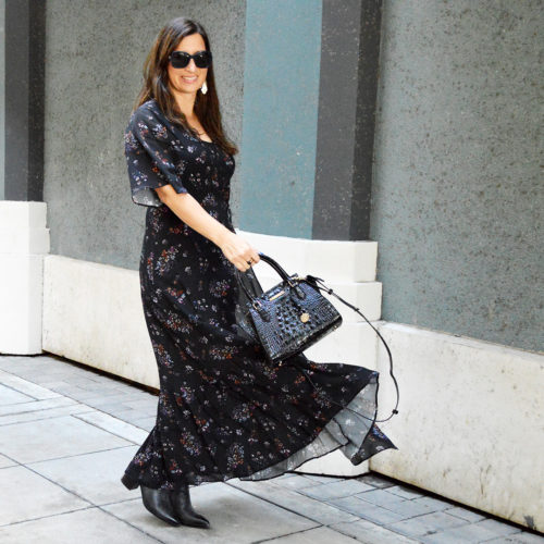 Easy breezy fall floral dress