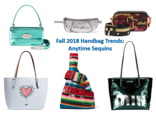 Fall 2018 handbag trends: anytime sequins
