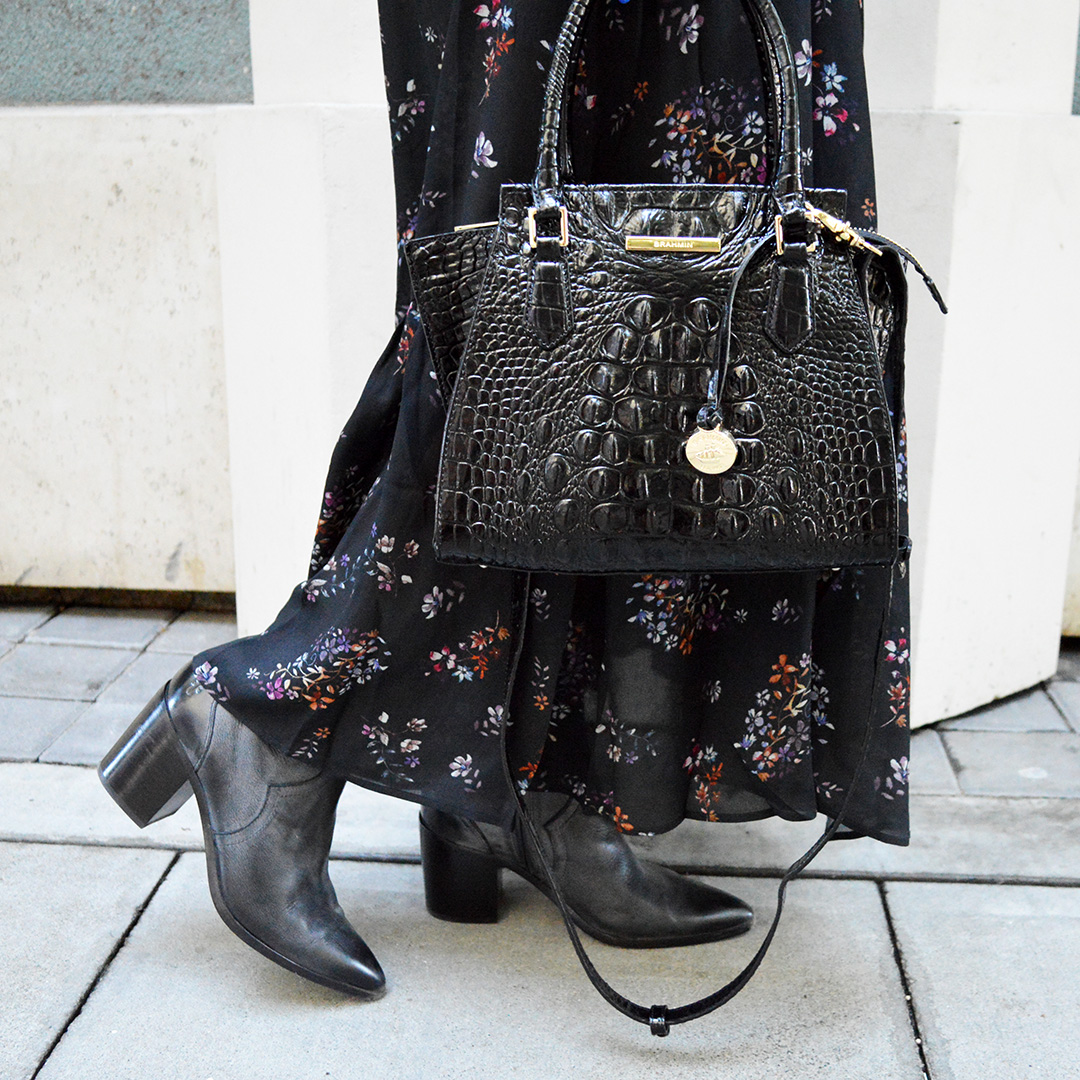 fall boots and fall bag