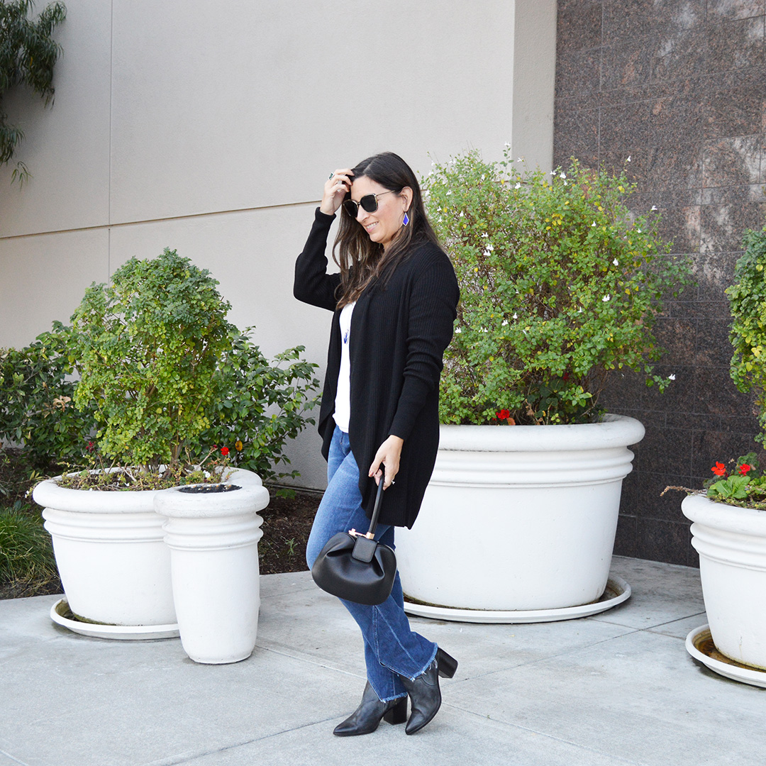 lightweight black cardigan for fall