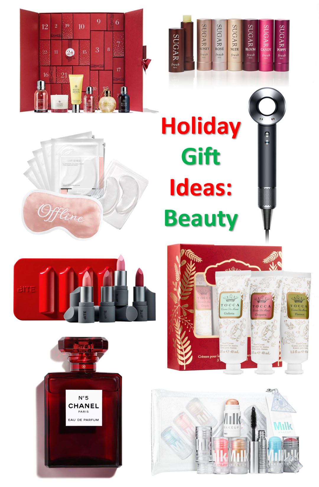 beauty gift ideas holidays 2018