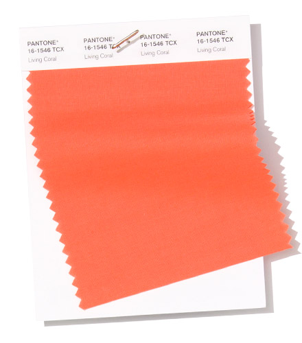 pantone living coral swatch color of 2019