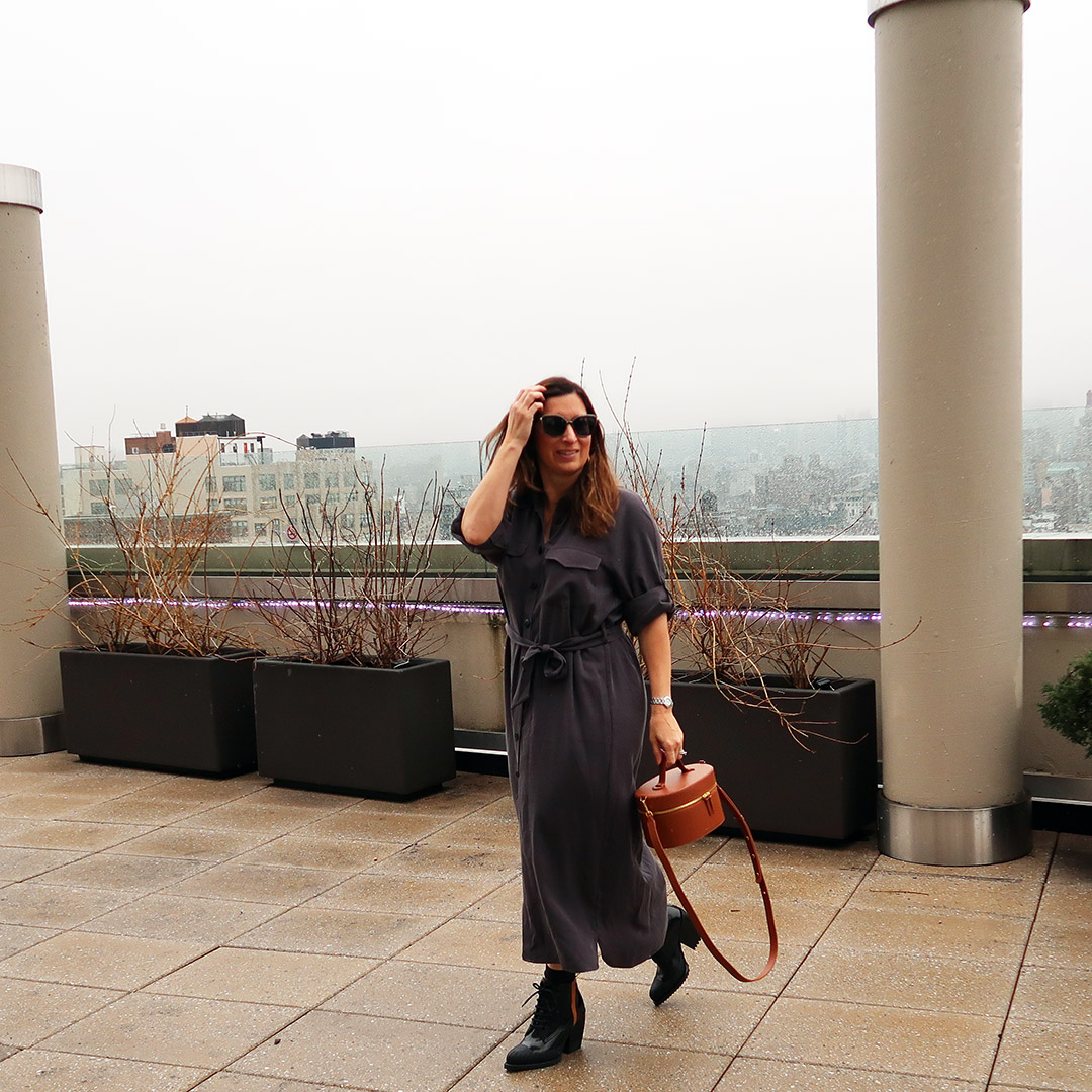 shirtdress winter into spring