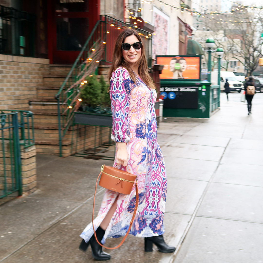 how to wear spring dress winter