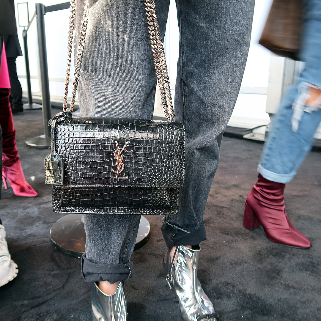 nyfw street style handbags