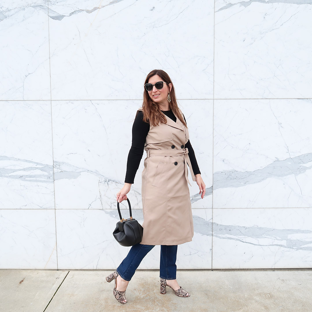 how to style a sleeveless trench coat spring 2019