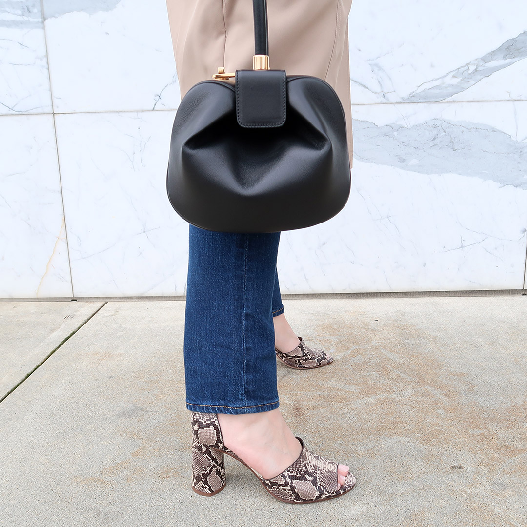 snakeskin sandals gabriela hearts nina bag