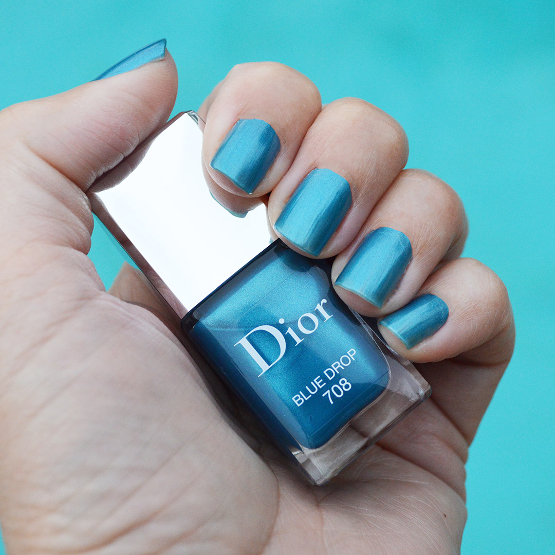 dior nail polish spring 2019 blue drop