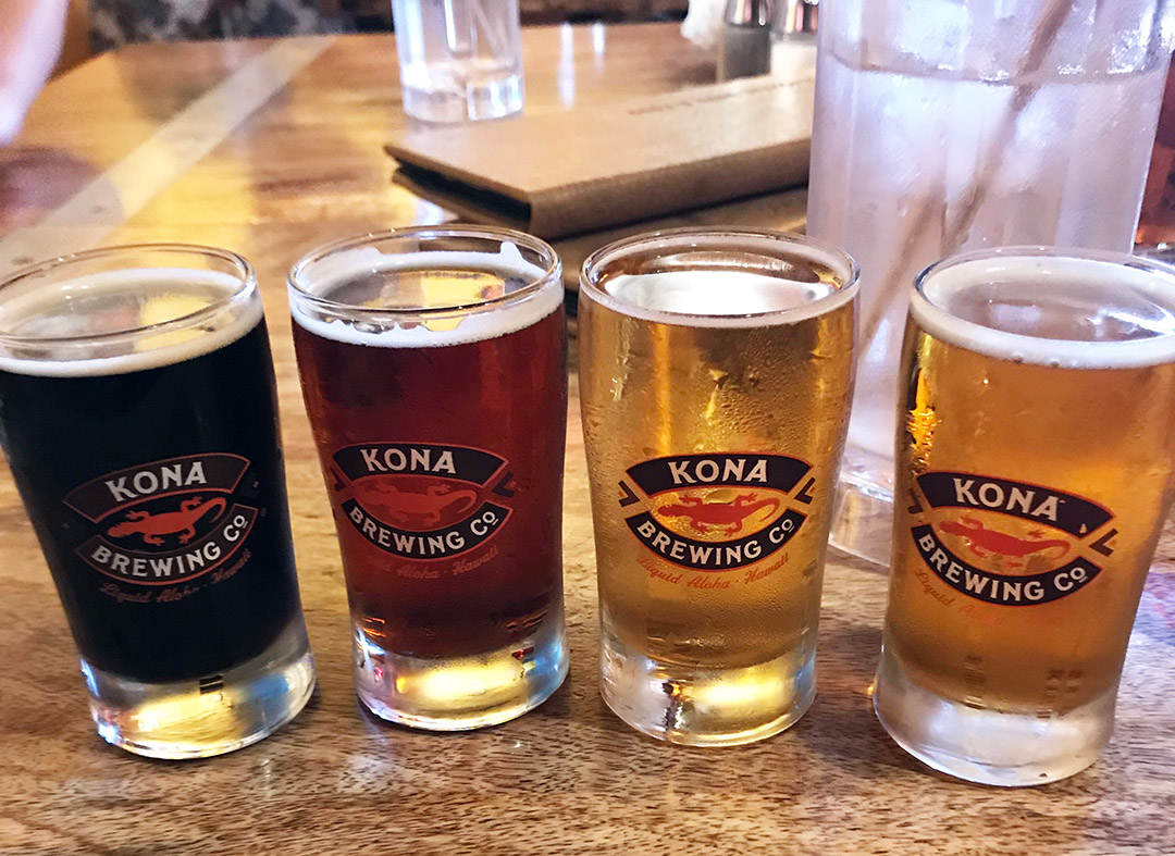 kona brewing company beer flight