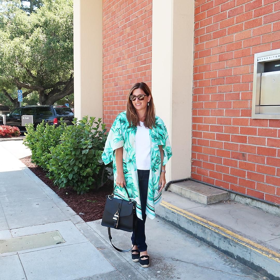 palm print kimono outfit ideas