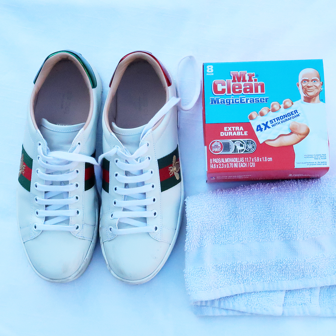 how to clean white leather sneakers