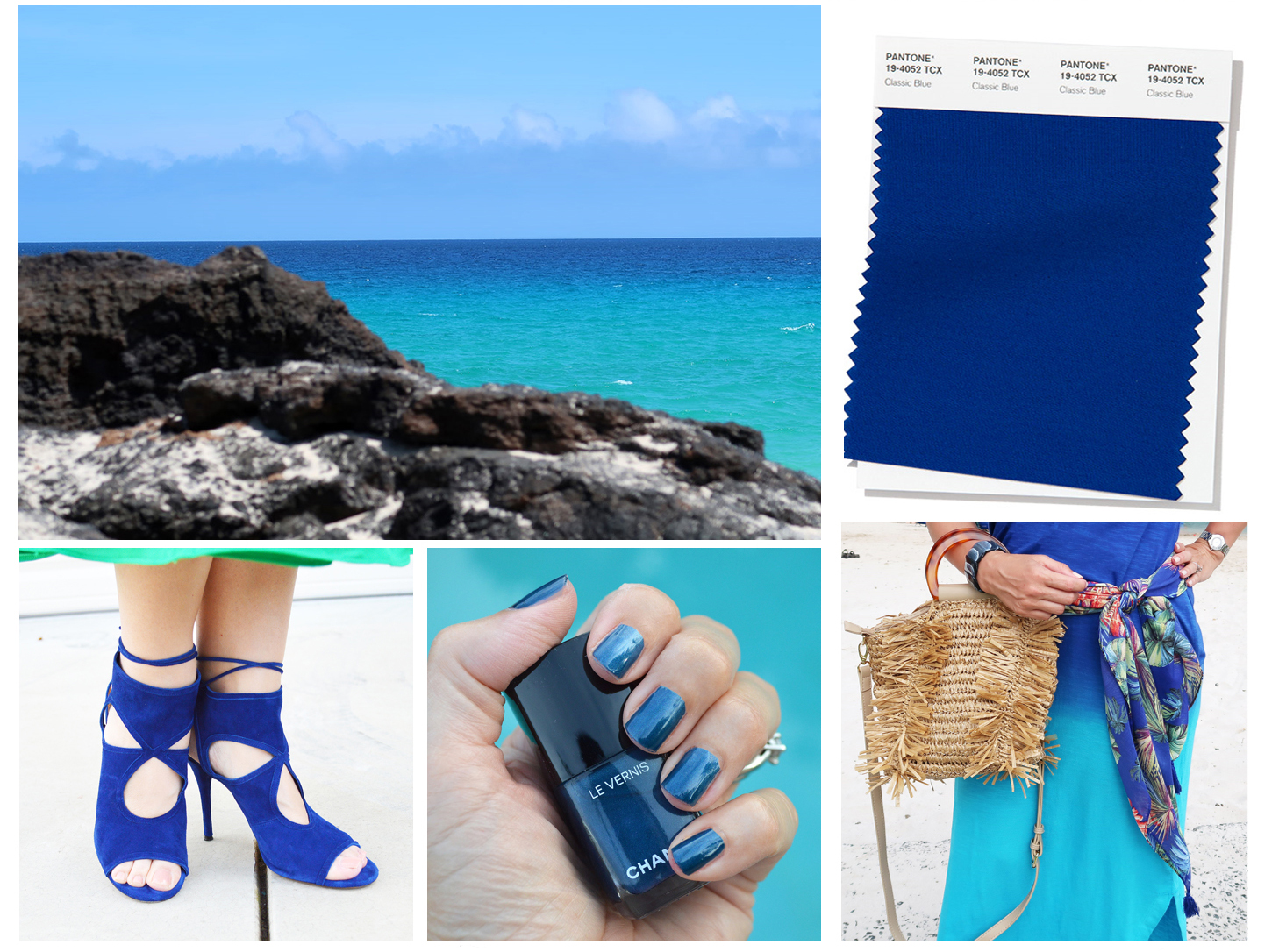 classic blue mood board color of the year 2020