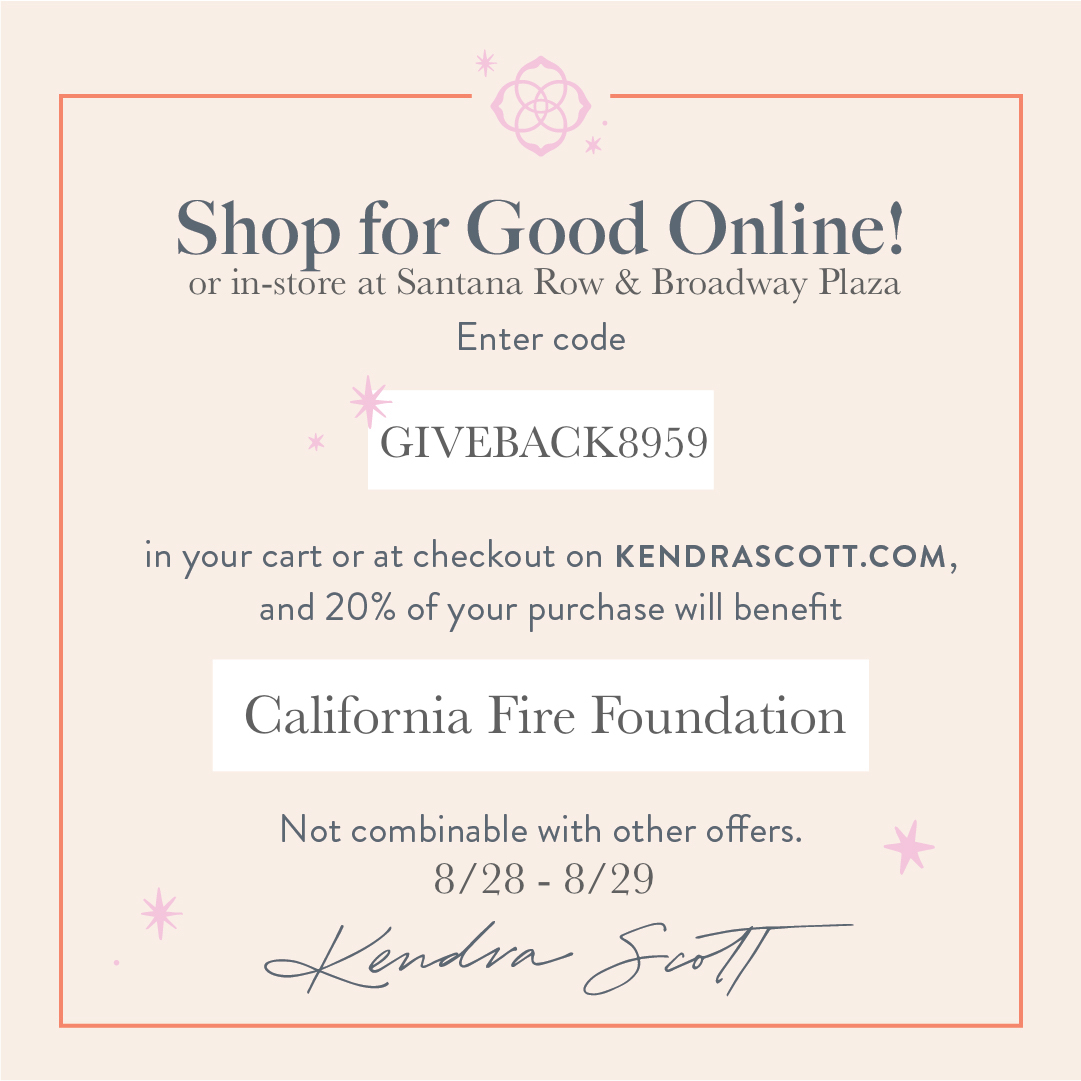 kendra scott support california fire foundation