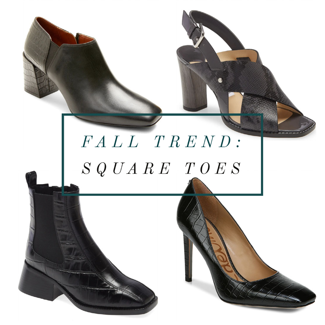 square toe shoes for fall 2020