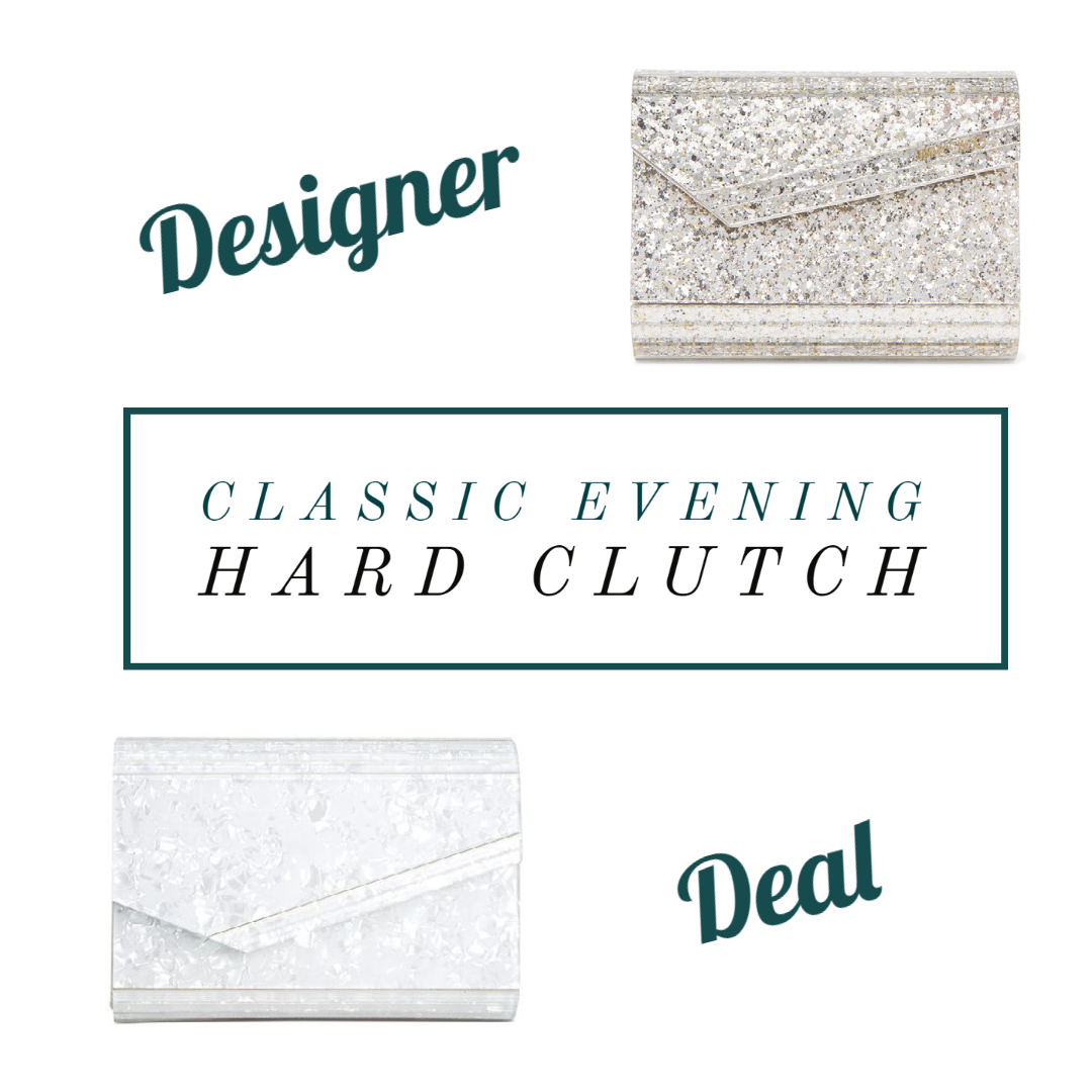 classic evening hard clutch designer or deal