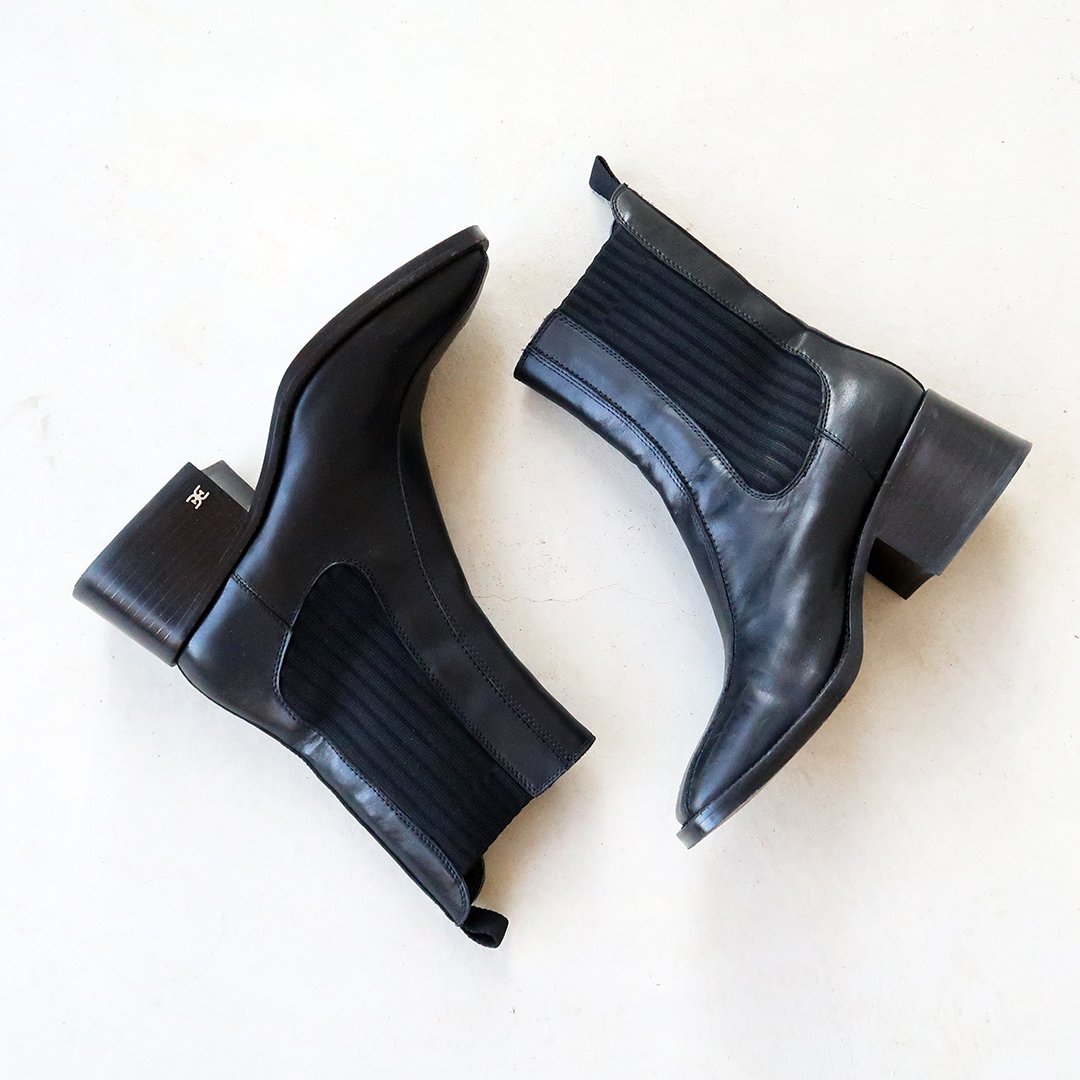 block heel black booties