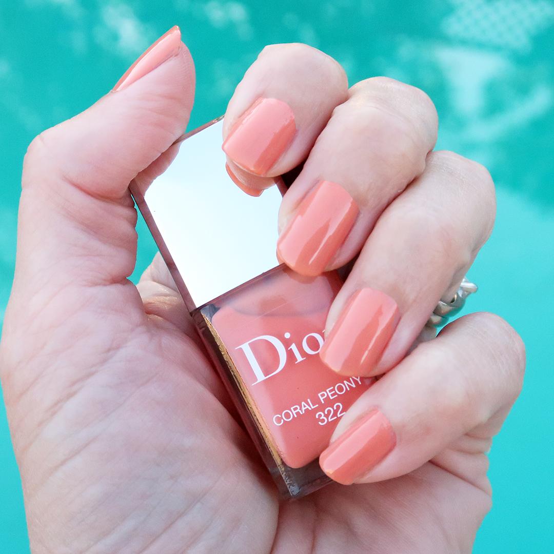 dior coral peony nail polish dior spring 2021 nail polish