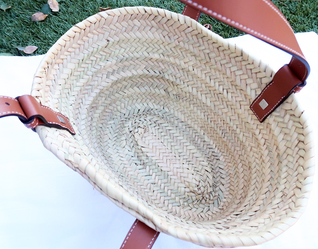 mini loewe basket bag interior