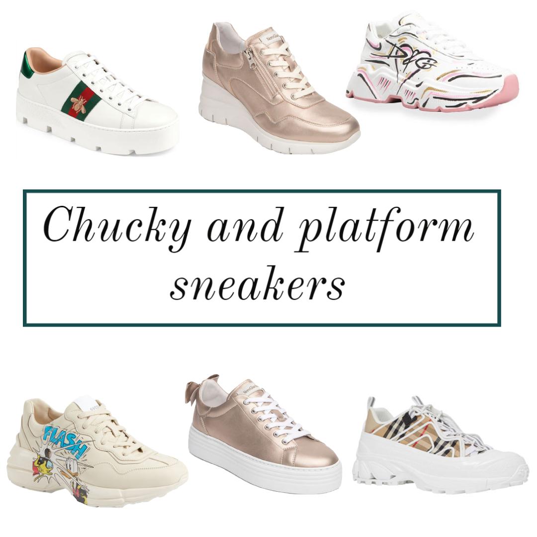 spring sneakers trends chunky platform sneakers