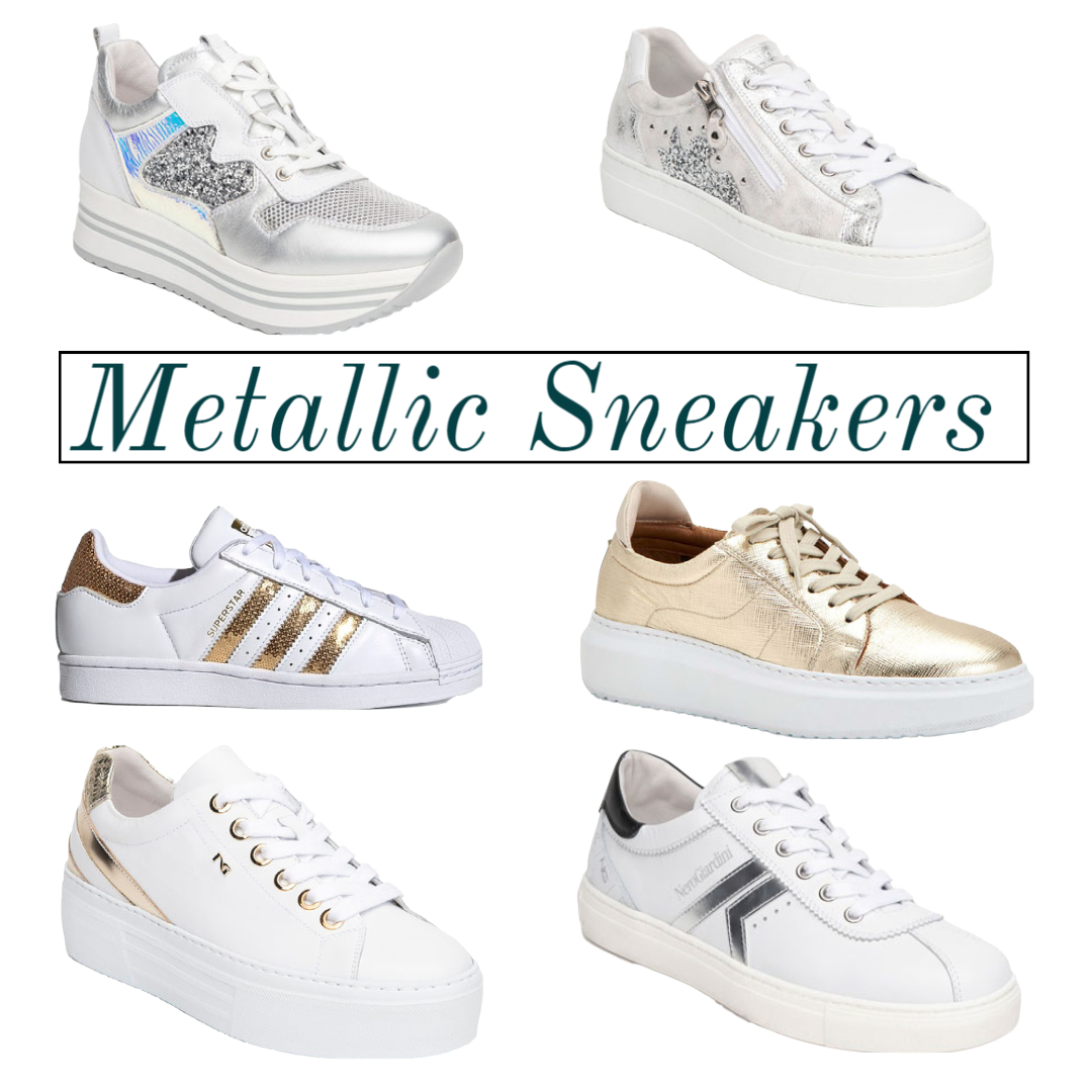 metallic sneakers spring 2021