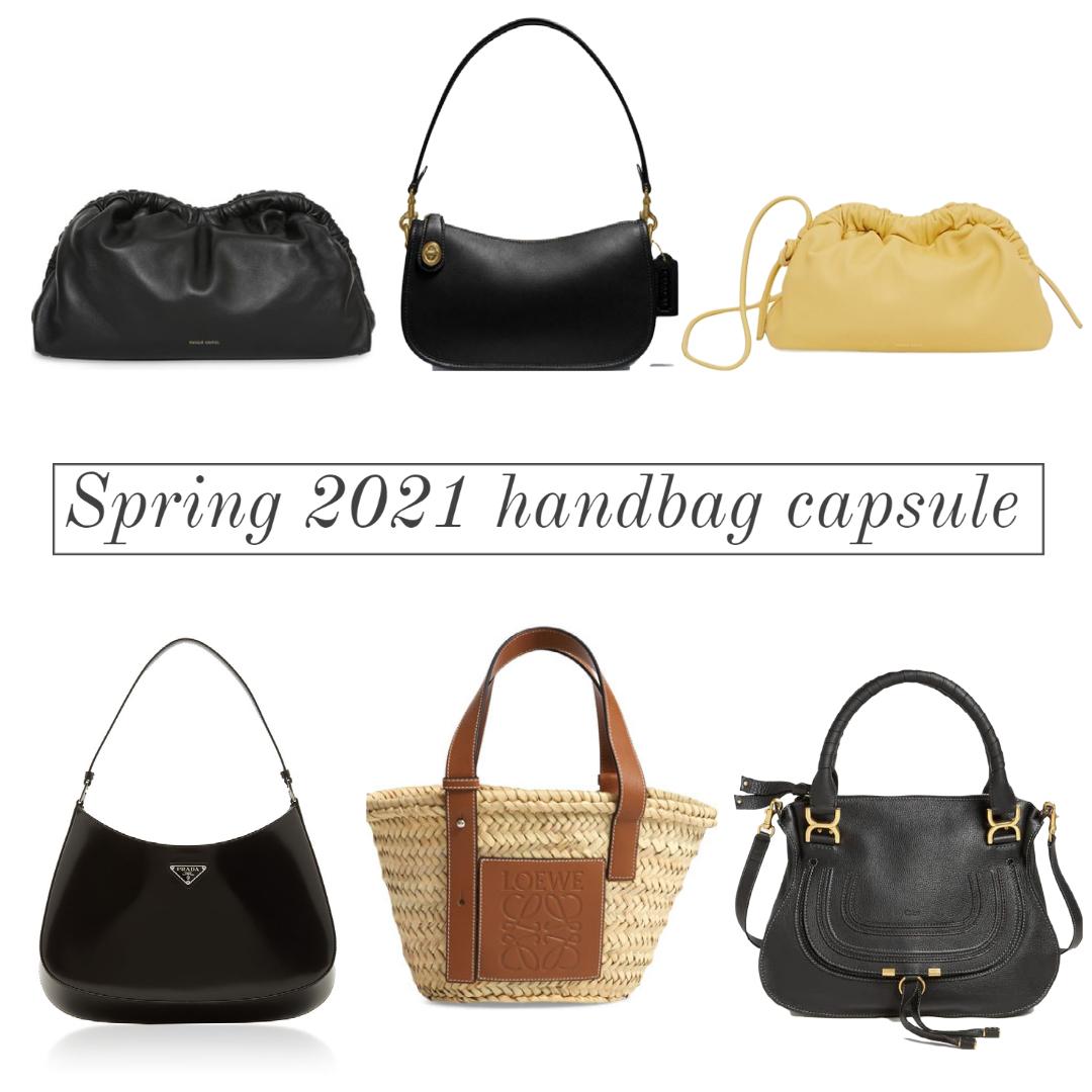 spring handbag capsule wardrobe
