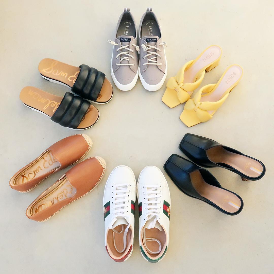 shoe capsule wardrobe spring 2021