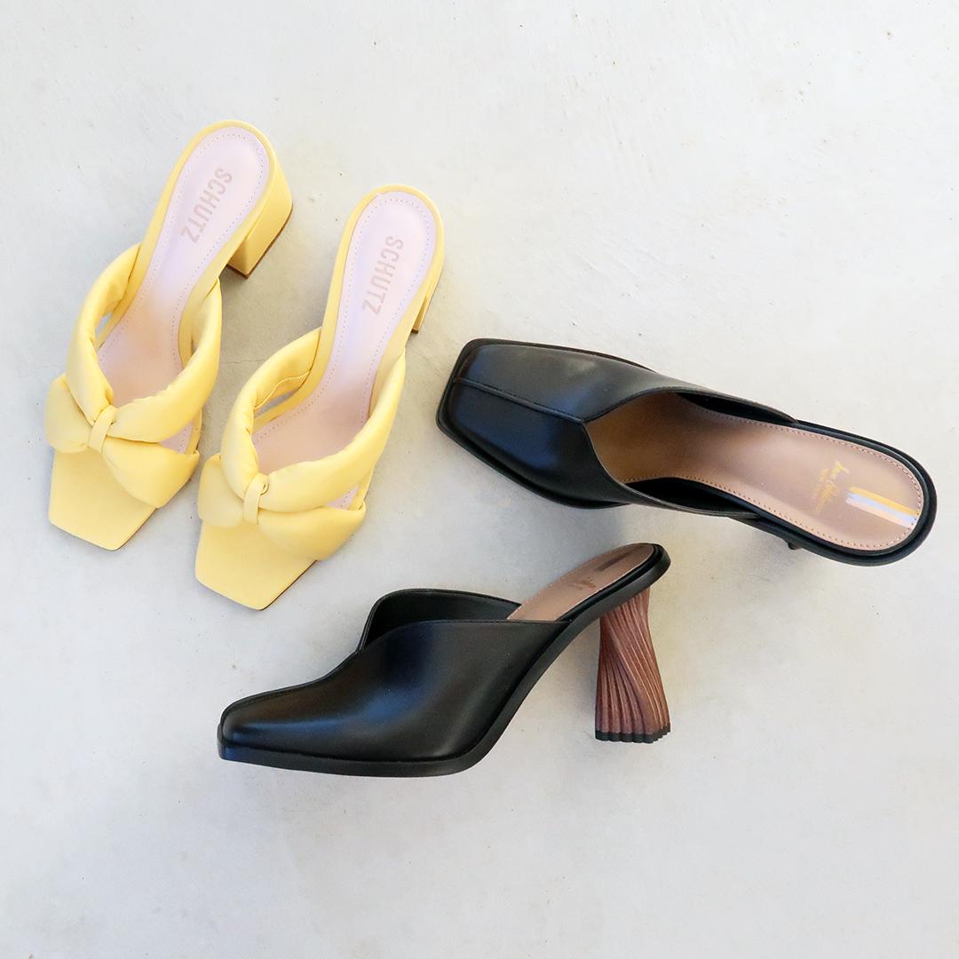 spring 2021 shoe capsule wardrobe square toe trend